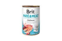 Brit Pate & Meat Dog k 400 g для взрослых собак с лососем