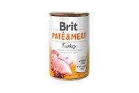 Brit Pate & Meat Dog k 400 g для взрослых собак с индейкой