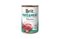 Brit Pate & Meat Dog k 400 g для взрослых собак с олениной