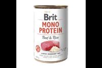 Brit Mono Protein Dog k 400 g для взрослых собак с говядиной и темным рисом